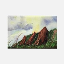 Flatirons Sunset Rectangle Magnet