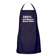 100% Intelligent Black Child Apron (dark)