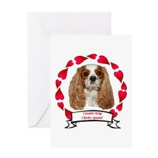 Cavalier Hearts Greeting Card