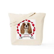 Cavalier Hearts Tote Bag