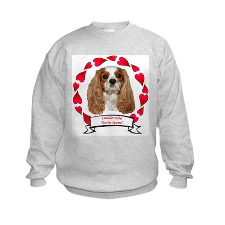 Cavalier Hearts Kids Sweatshirt