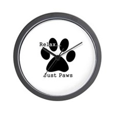 Relax...Just Paws Wall Clock