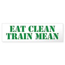 Eat Clean Train Mean Car Sticker