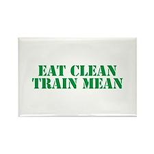 Eat Clean Train Mean Rectangle Magnet