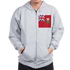 Vintage Ontario Flag Zip Hoodie