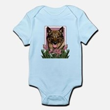 Mothers Day Pink Tulips Vallhund Infant Bodysuit