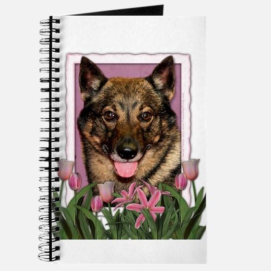Mothers Day Pink Tulips Vallhund Journal