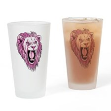 Cute Lion design Drinking Glass