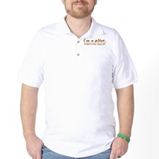 imapilot_magneto_creamy_2_black_bg T-Shirt