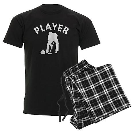 Curling Player Men's Dark Pajamas