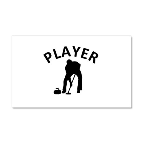 Curling Player Car Magnet 20 x 12