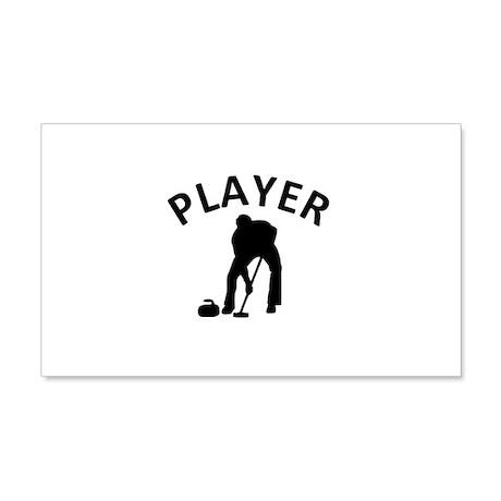 Curling Player 22x14 Wall Peel