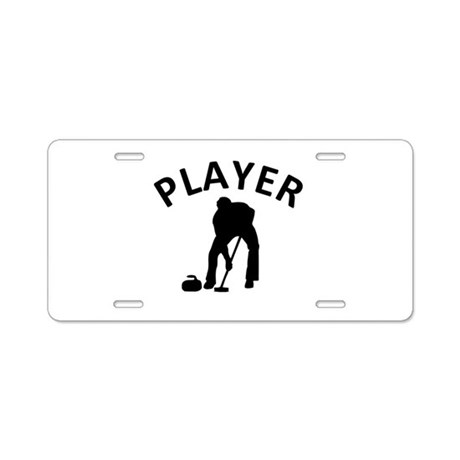 Curling Player Aluminum License Plate