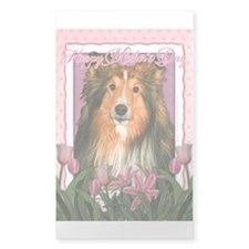 Mothers Day Pink Tulips Sheltie Decal