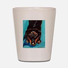 Portrait of a dachshund Shot Glass