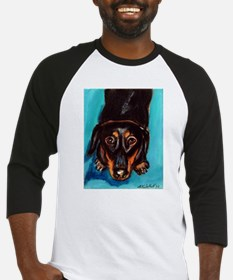 Portrait of a dachshund Baseball Jersey