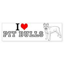Unique Pit bull cloths Bumper Sticker