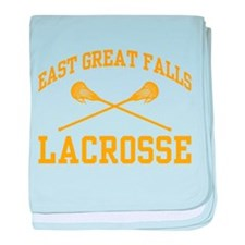 East Great Falls Lacrosse baby blanket