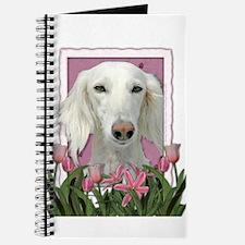 Mothers Day Pink Tulips Saluki Journal