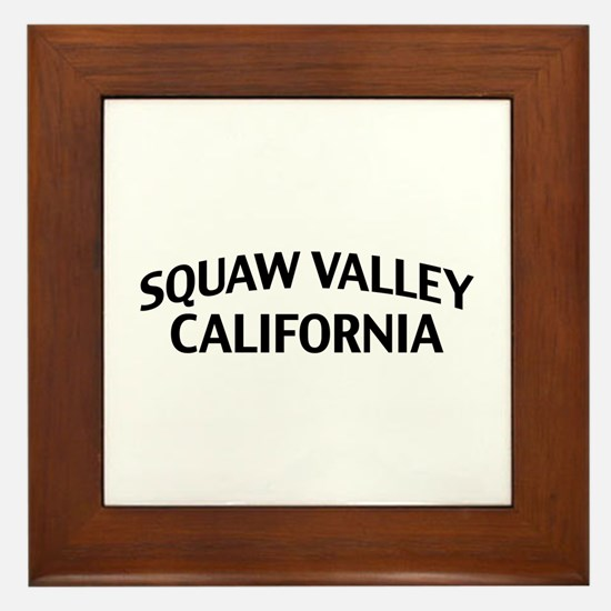 Squaw Valley California Framed Tile
