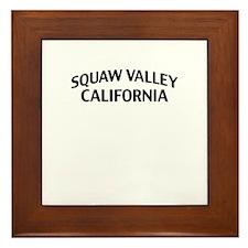Squaw Valley California Framed Tile