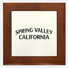 Spring Valley California Framed Tile