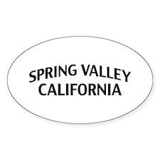 Spring Valley California Decal
