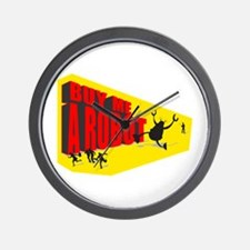 Buy Me A Robot Rampage Wall Clock