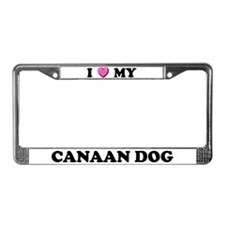 I Heart My Canaan Dog License Plate Frame