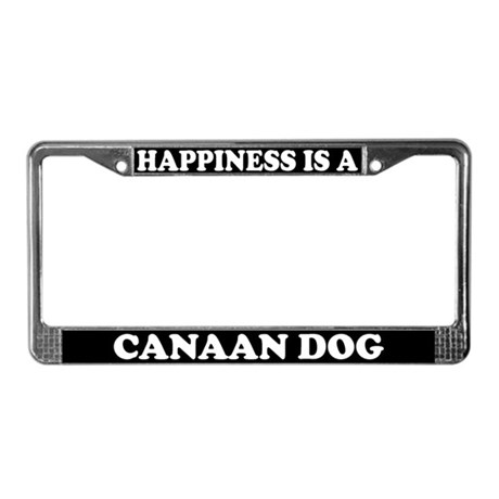 Happiness Is A Canaan Dog License Plate Frame