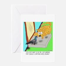 Pigeon is Junk Food Greeting Card