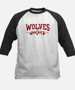 Wolves Hockey Kids Baseball Jersey