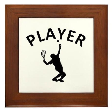 Lawn Tennis Player Framed Tile