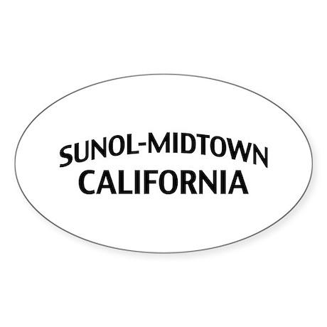Sunol-Midtown California Sticker (Oval)
