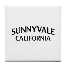 Sunnyvale California Tile Coaster