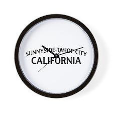 Sunnyside-Tahoe City California Wall Clock