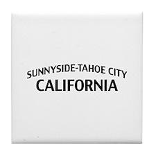 Sunnyside-Tahoe City California Tile Coaster