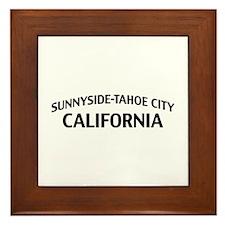 Sunnyside-Tahoe City California Framed Tile