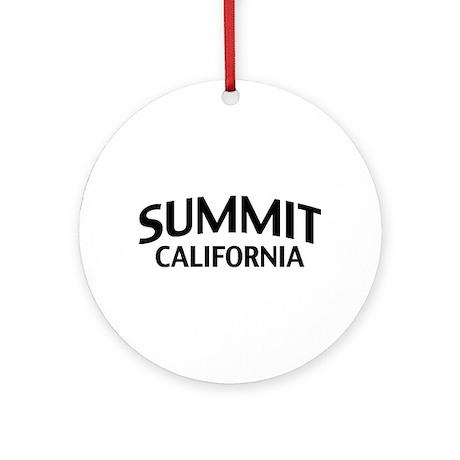 Summit California Ornament (Round)