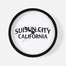 Suisun City California Wall Clock