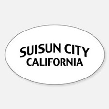 Suisun City California Sticker (Oval)