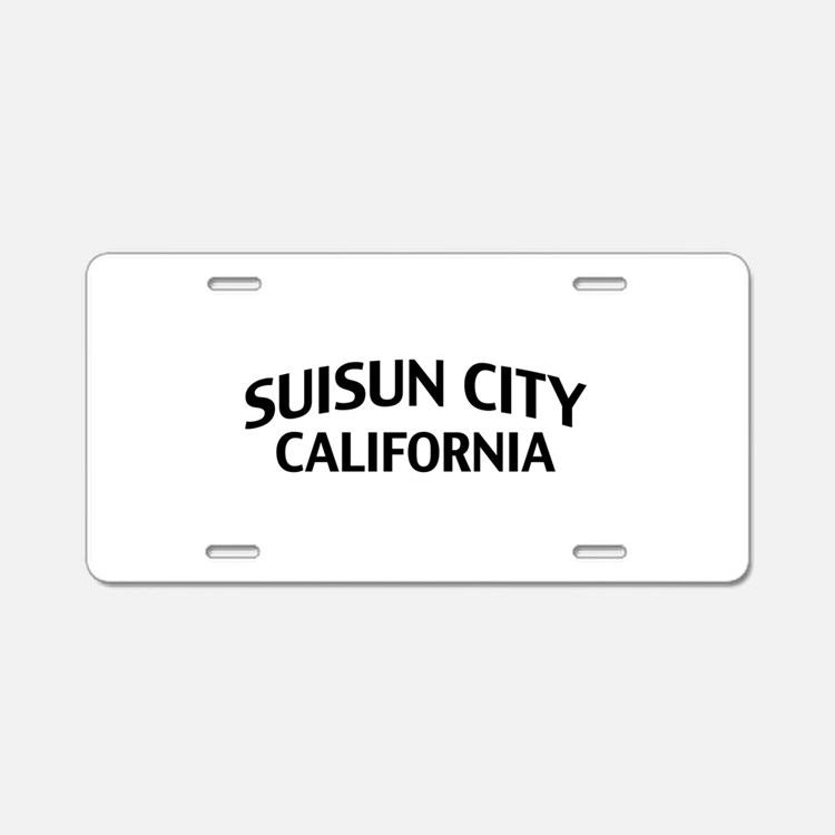 Suisun City California Aluminum License Plate