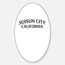 Suisun City California Sticker (Oval)