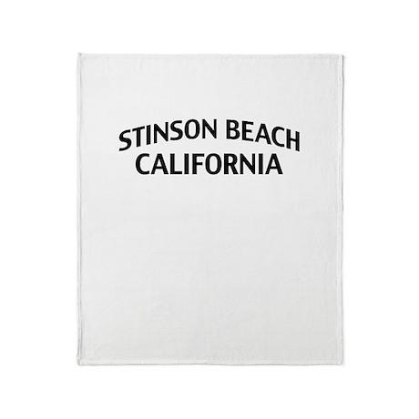 Stinson Beach California Throw Blanket