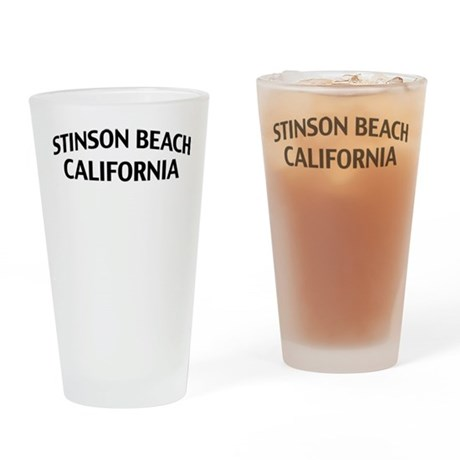 Stinson Beach California Drinking Glass