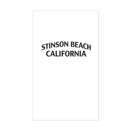 Stinson Beach California Sticker (Rectangle)