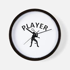 Squash Player Wall Clock