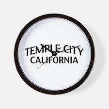 Temple City California Wall Clock
