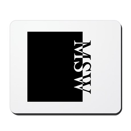 MSW Typography Mousepad