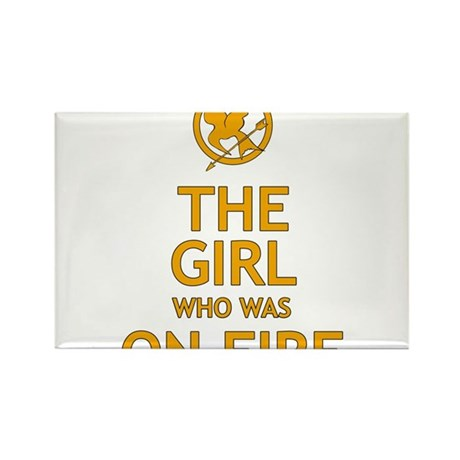 The Girl Who Was On Fire Rectangle Magnet